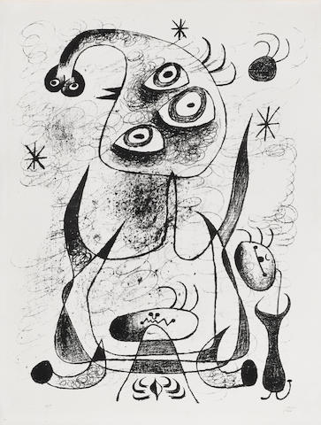 Joan Miró (1893-1983); Pl. 22, from Barcelona Series;
