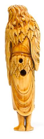 An ivory netsuke of Gamma sen'nin