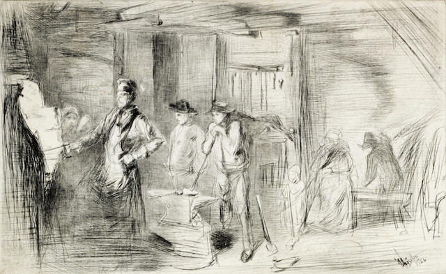 James Abbott McNeill Whistler (American, 1834-1903); The Forge;