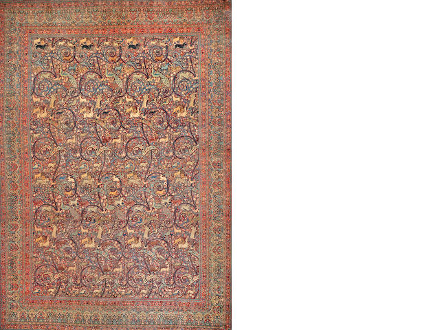 Tabriz carpet Central Persia size approximately 14ft. 4in. x 20 ft. 4 in.