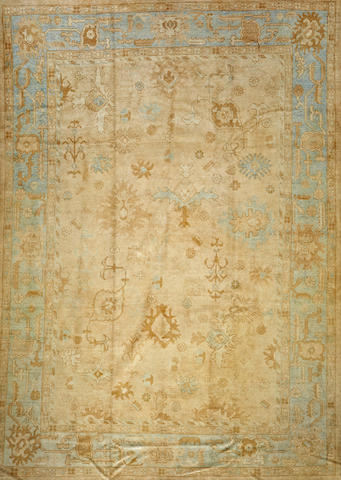 A Contemporary Turkish carpet  Turkey size approximately 9ft. 10in. x 13ft. 11in.