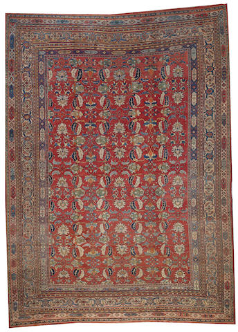 A Doroksh carpet Northeast Persia size approximately 9ft. 10in. x 13ft. 3in.