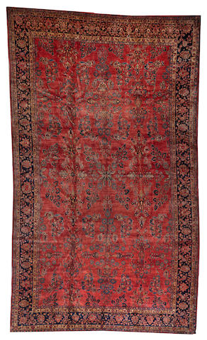 A Sarouk carpet Central Persia size approximately 11ft. 3in. x 19ft. 1in.