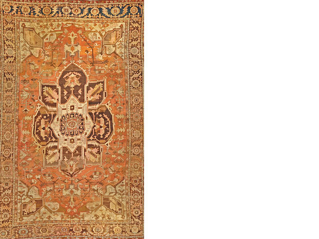 A Heriz carpet  Northwest Persia size approximately 10ft. 1in. x 15ft. 4in.