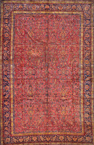 A Kashan carpet Central Persia size approximately 13ft. 8in x 21ft. 2in