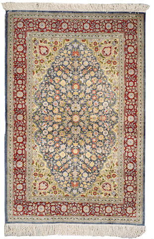 A Hereke rug  Turkey size approximately 3ft. 4in. x 5ft. 3in.