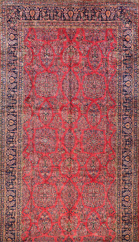 A Kashan carpet  Central Persia size approximately 11ft. 10in. x 22ft. 9in.