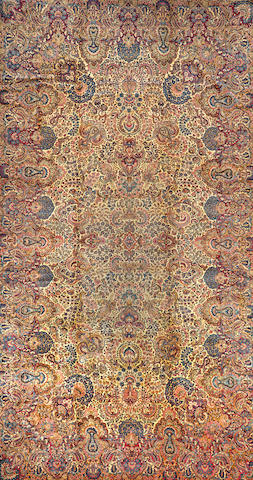 A Kerman carpet  Central Persia size approximately 11ft. x 20ft. 1in.