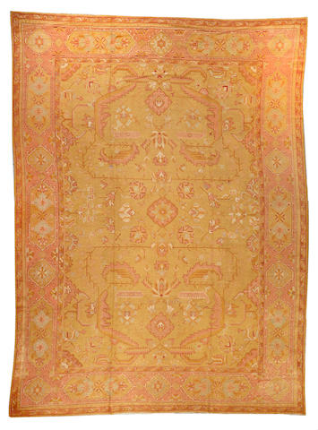 An Oushak carpet  West Anatolia size approximately 12ft. 2in. x 16ft. 4in.