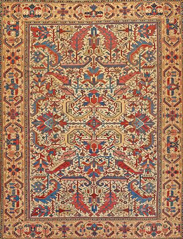 A Heriz carpet Northwest Persia size approximately 9ft. x 11ft.