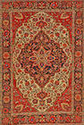A Fereghan Sarouk rug  Central Persia size approximately 4ft. 3in. x 6ft. 4in.
