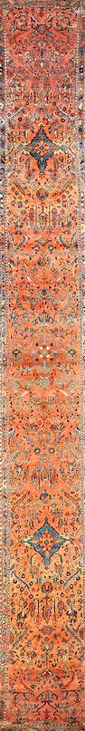 A Hamadan runner Central Persia size approximately 2ft. 7in. x 19ft. 5in.