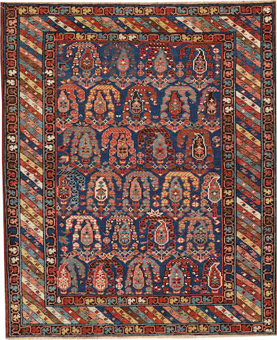 A Genje rug Caucasus size approximately 3ft. 7in. x 4ft. 4in.