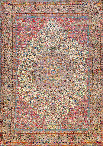 A Kerman carpet  South Central Persia size approximately 10ft. 9in. x 15ft. 1in.