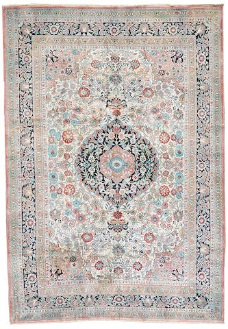 A Contemporary Turkish silk rug  Turkey size approximately 6ft. 2in. x 8ft. 9in.