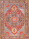 A Heriz carpet  Northwest Perisa size approximately 9ft. 7in. x 12ft. 10in.