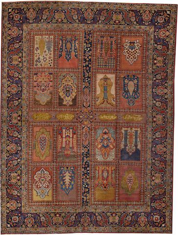 A Tabriz carpet  Northwest Persia size approximately 8ft. 11in. x 12ft.
