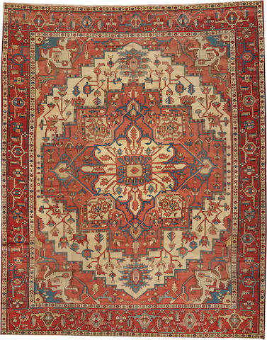 A Serapi carpet Northwest Persia size approximately 8ft. 11in. x 10ft. 9in.