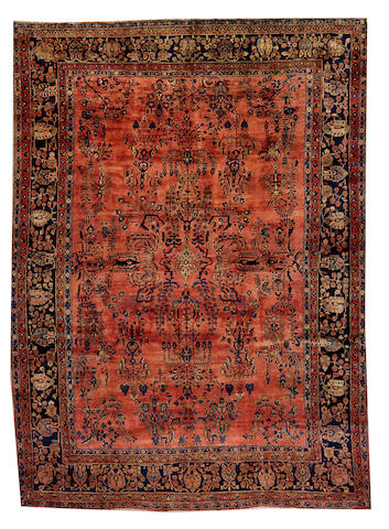 A Mohajaron Sarouk carpet Central Persia size approximately 8ft. 9in. x 12ft. 1in.