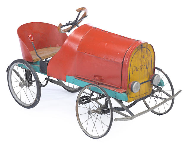 An antique childs pedal car, c. 1910,