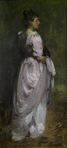 Sir James Guthrie, PRSA HRA RSW LLD (British, 1859-1930) Miss Anne Spencer 181.5 cm x 84.5 cm. (71 1/2 x 33 1/4 in.)