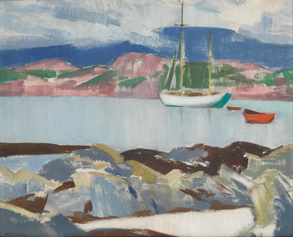 Francis Campbell Boileau Cadell, RSA RSW (British, 1883-1937) 36.5 x 44 cm. (14 3/8 x 17 5/16 in.)