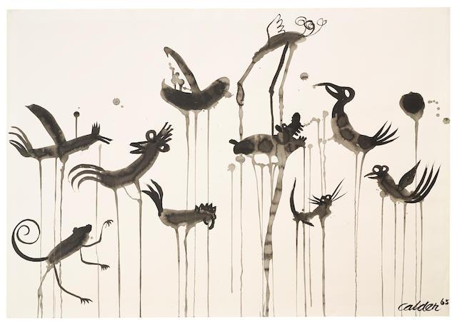ALEXANDER CALDER (1898-1976) Cocoricos, 1965