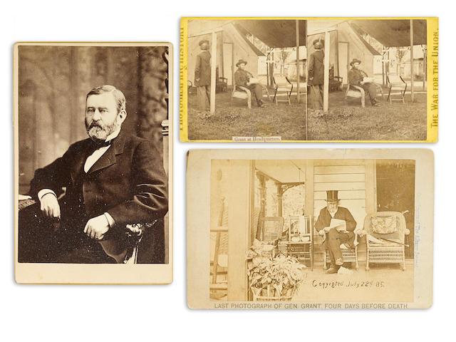 GRANT, ULYSSES S. 1822-1885. 1. Albumen print cabinet card, the final photo taken of Grant