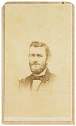 GRANT, ULYSSES S. 1822-1885. 5 albumen print carte-de-visite portraits of Grant,