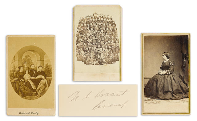 GRANT, ULYSSES S. 1822-1885. 1. Albumen print carte-de-visite, collage portrait of General Grant