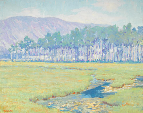 Alson Skinner Clark (1876-1949) Landscape with marshes 26 x 32in