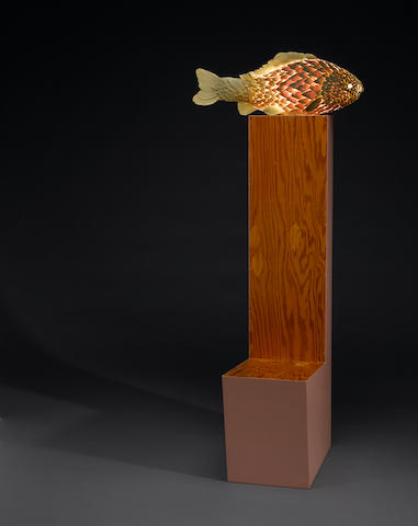 Frank O. Gehry (Canadian/American, born 1929) untitled, (fish lamp with chair base), circa 1984