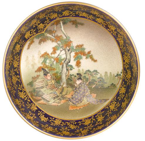 A satsuma bowl, kinkozan