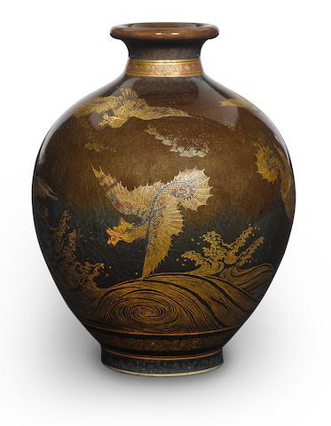 A satsuma vase with dragon