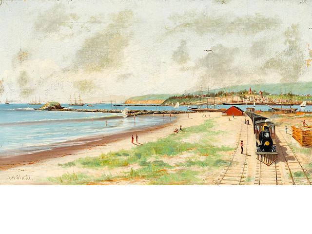 Albert Horatio Slade (American, 1843-1922) Pacific Terminus, Los Angeles Terminal Railway, San Pedro