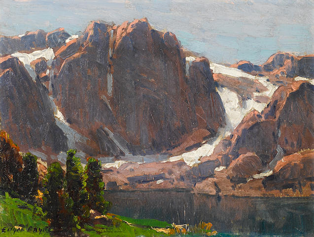 Edgar Payne (1883-1947) Temple Crag, High Sierra Lake 9 x 12in