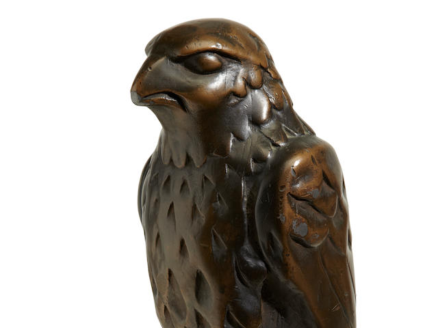 The iconic lead statuette of the Maltese Falcon from the 1941 film of the same name