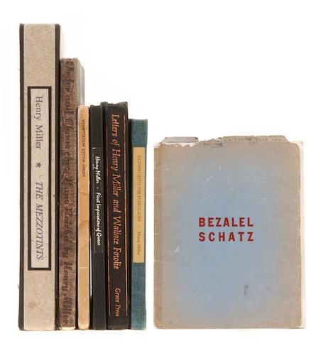 MILLER, HENRY.  7 titles, most signed or inscribed: