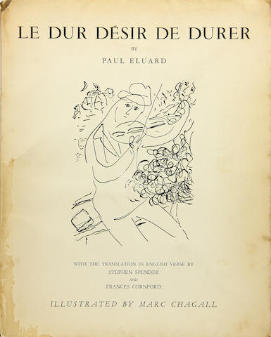 [CHAGALL, MARC.] Eluard, Paul. Le Dur Desirde Dewar  **Jan. PAD**