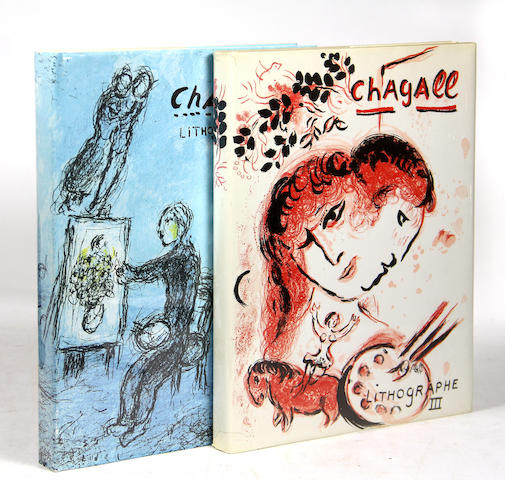 [CHAGALL, MARC.] Lithographs. Vols. III & V only.  **Jan. PAD**