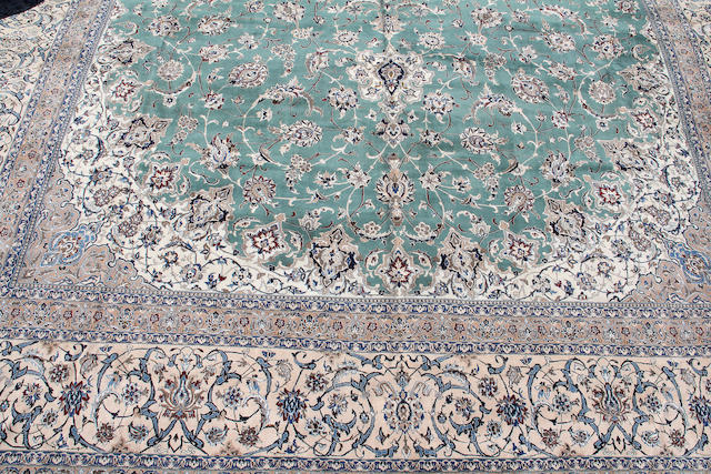 A Nain carpet Central Persia size approximately 22ft. 6in. x 37ft. 3in.