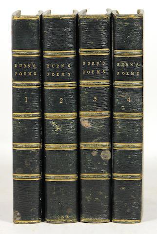 BURNS, ROBERT. Works. 4 vols. 1801.