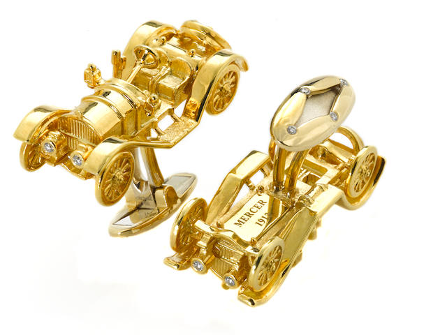 Mercer Raceabout cufflinks,