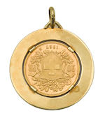 A collection of gold medals awarded to Umberto Maglioli in the 1950s,