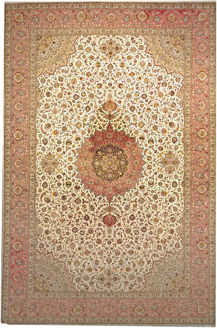 A Tabriz carpet Northwest Persia size approximately 13ft. x 19ft. 8in.