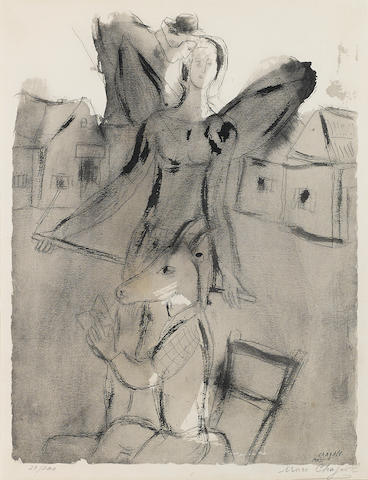 Attributed to Marc Chagall (Russian/French, 1887-1985); Untitled;