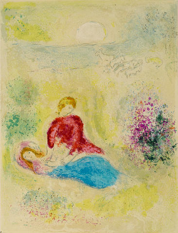 Marc Chagall (1887-1985); L'Arondelle, pl. 12, from Daphne and Chloé;