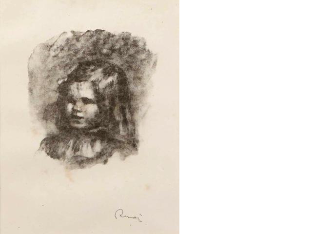 Pierre-Auguste Renoir (French, 1841-1919); Claude Renoir, tourné à gauche, from Douze Lithographies Originales de Pierre-Auguste Renoir;