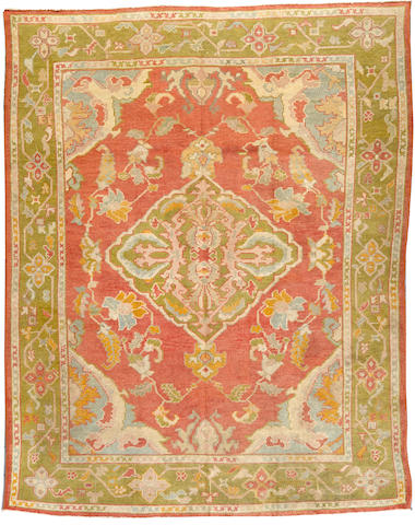 An Oushak carpet  West Anatolia size approximately 8ft. x 10ft.