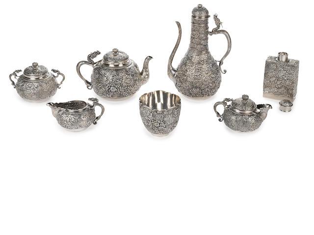 Seven piece silver tea service, Koinke company